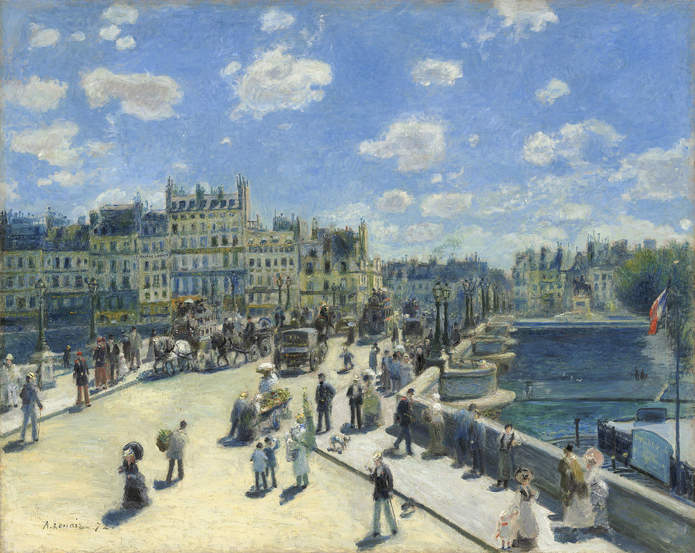Auguste Renoir -  Pont Neuf  - oil on canvas, 1872, National Gallery of Art, Washington DC.