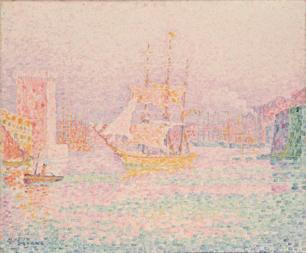 Paul Signac -Le port de Marseille- Huile sur toile,1906, Hermitage Museum, Saint-Petersbourg.