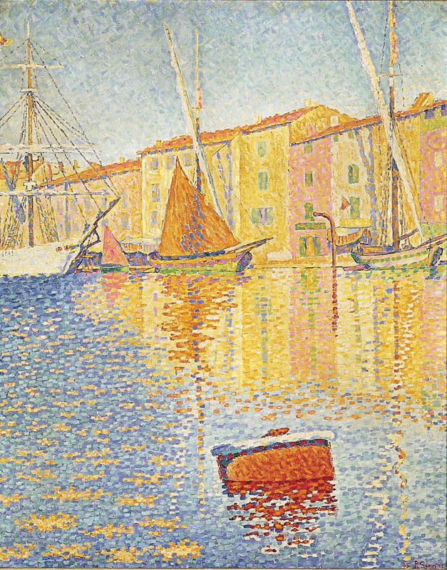 Paul Signac -La bouée rouge- Huile sur toile,1895, Musée d'Orsay, Paris.