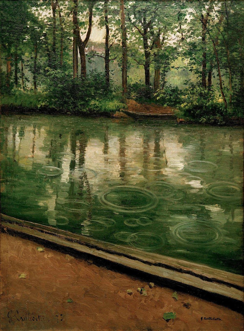 Riverbank in the Rain, 1875.