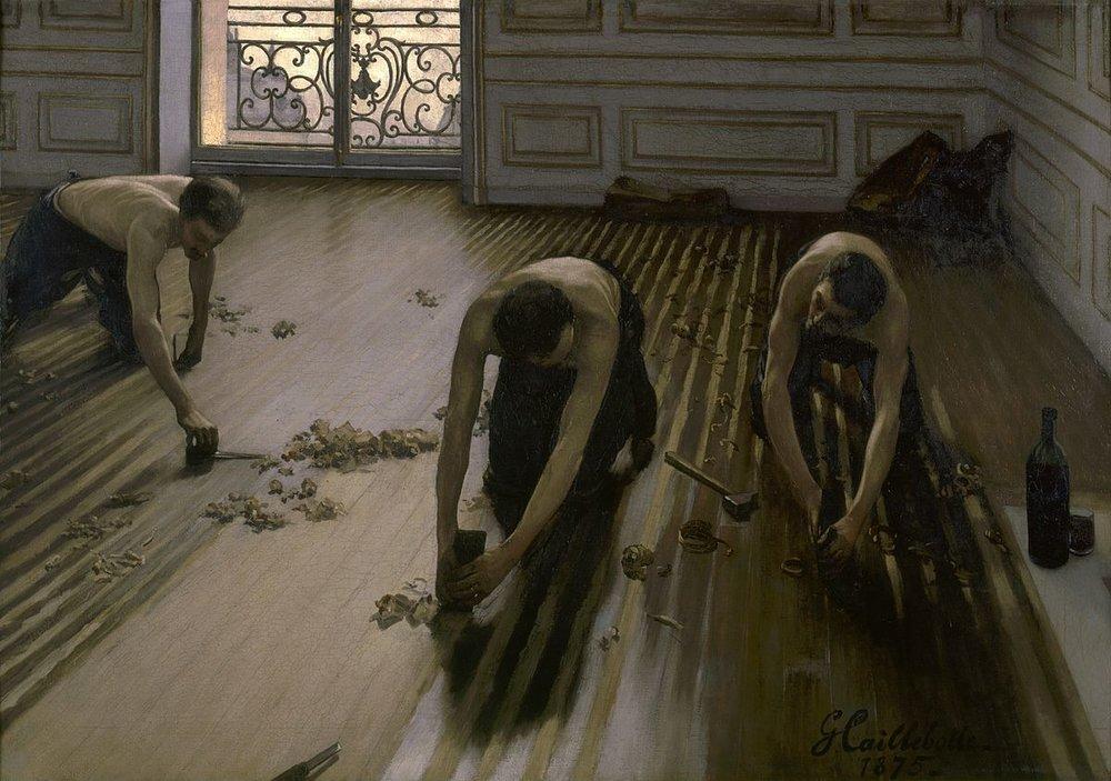 The Floor Scrapers,  1875 .