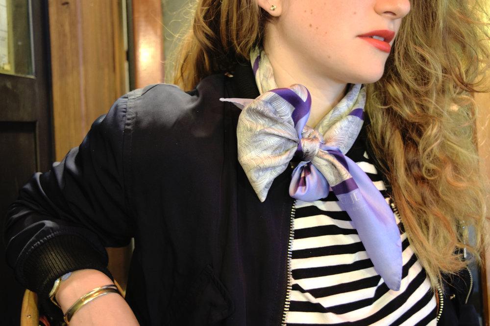 petitjean paris parisian brand design house prints silk scarf made in france designed in paris portrait parisian girl addresses banks