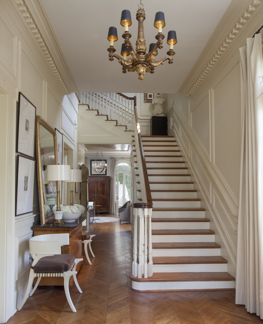 Clean traditional ty larkins interiors Steps design for home