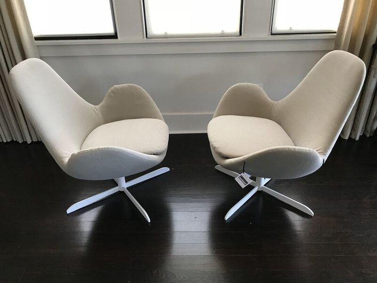 Italian Modern Swivel Lounge Chair — Ty Larkins Interiors
