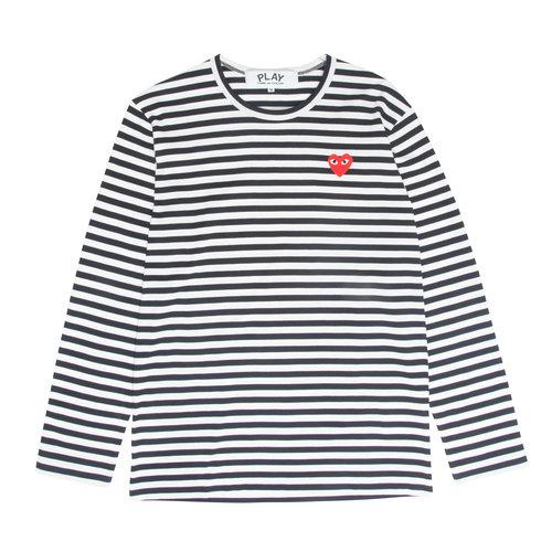 90eccb928992 PLAY Black & White Striped Tee — W2 Store