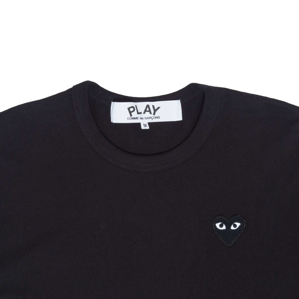 677d7d82d7fc PLAY Black Long Sleeve Tee with Black Heart — W2 Store
