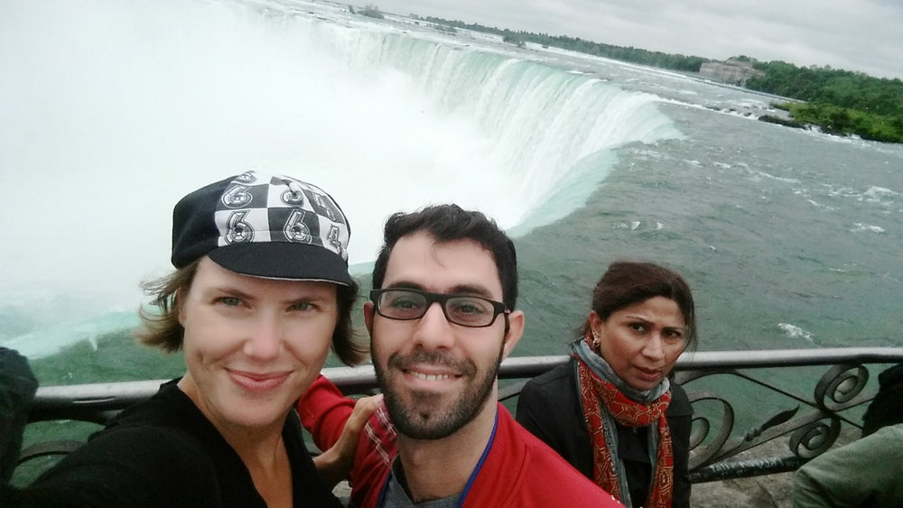 My Persian host and me at Niagara Falls!