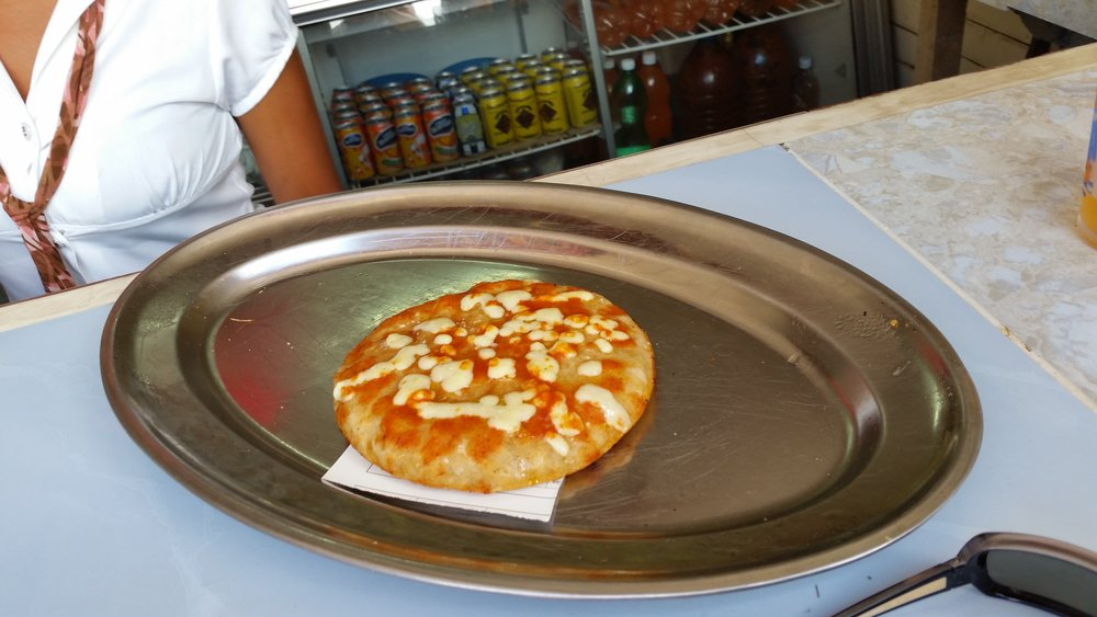 One of many versions of street pizza