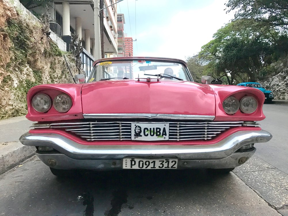 Classic car in Vedado neighborhood of Havana