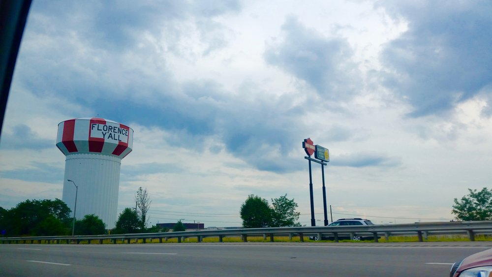 Quite possibly the most fun water tower in the United States in Florence, Kentucky