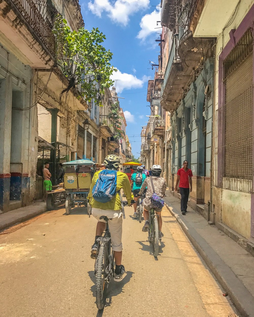 Bike ride through Old Havana