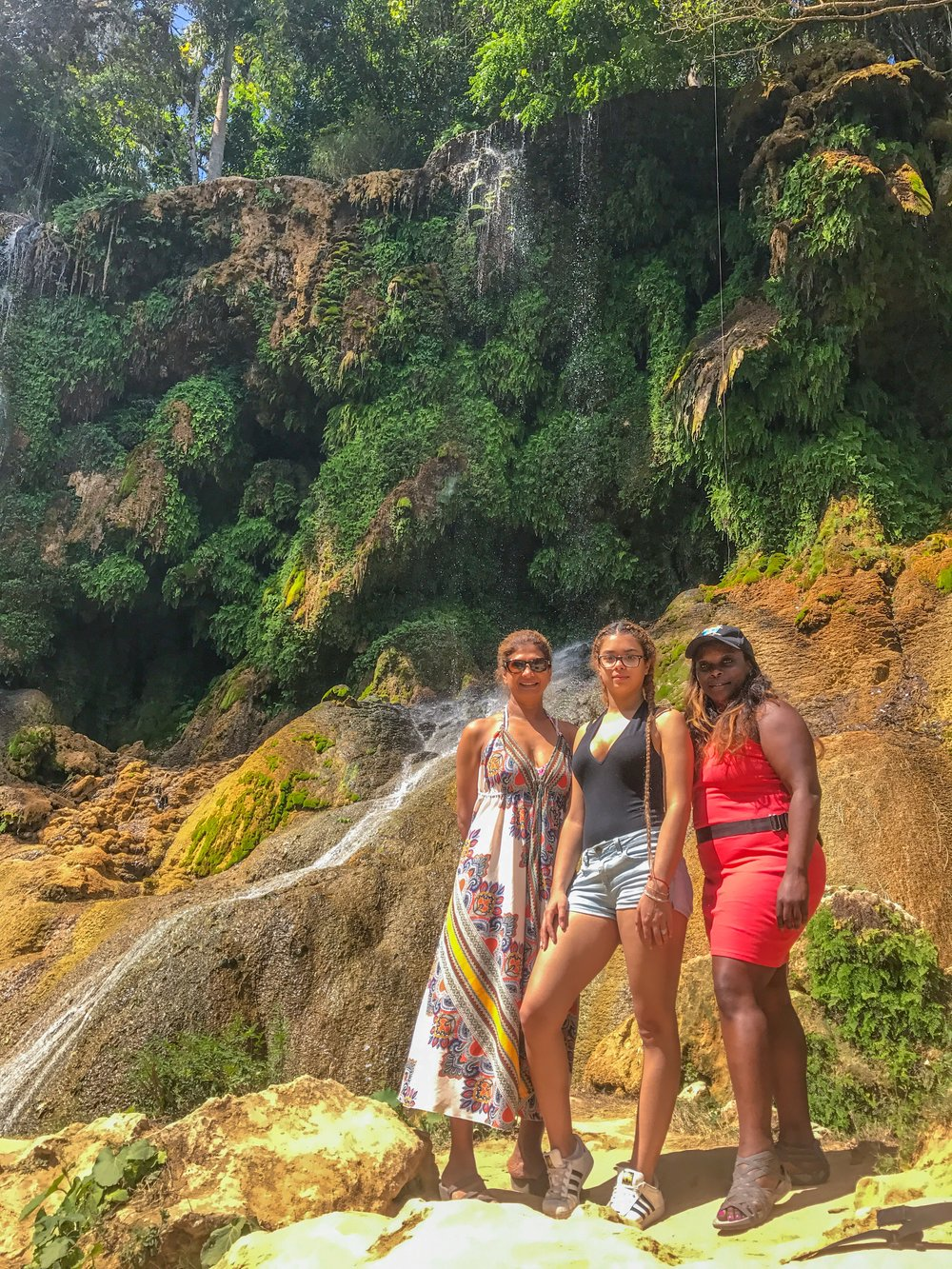 Posing it up at one of El Nicho's waterfalls in Cienfuegos