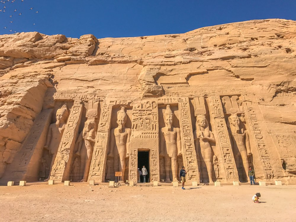 Abu Simbel temple near the Sudanese border