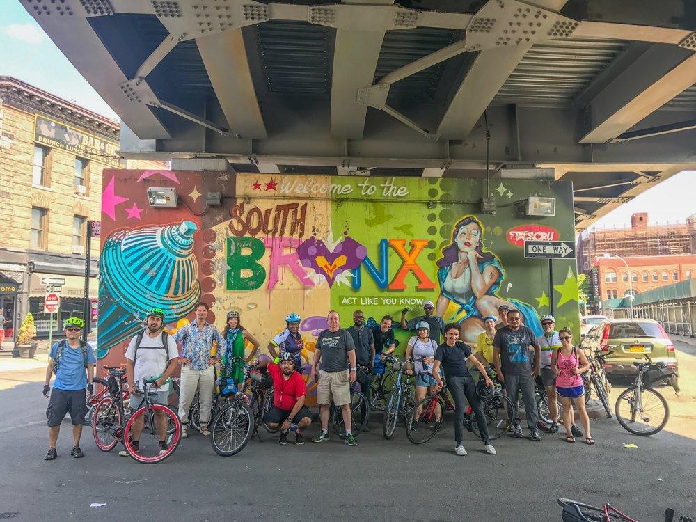 Bronx street art bike tour