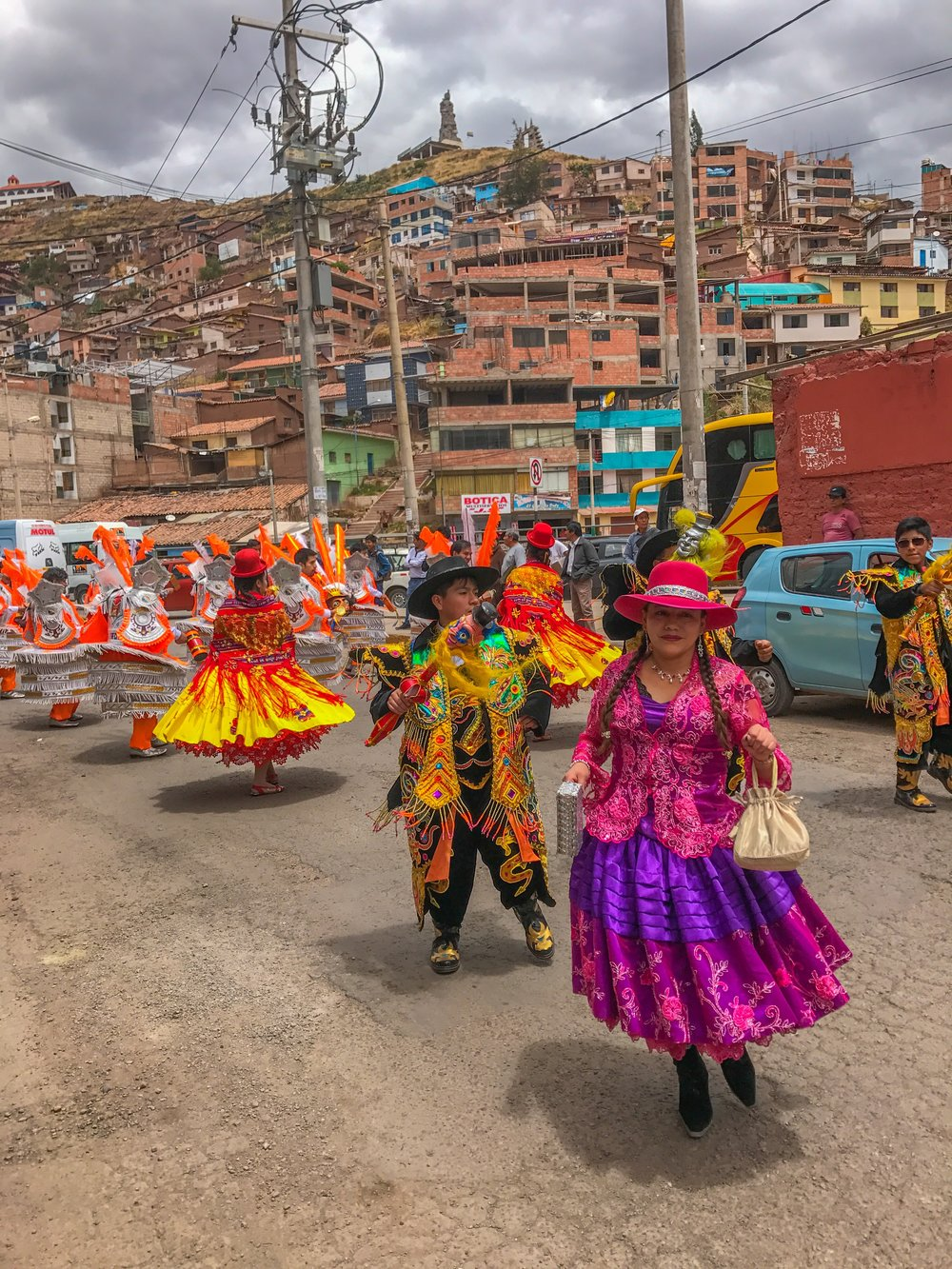 Parade through Cusco