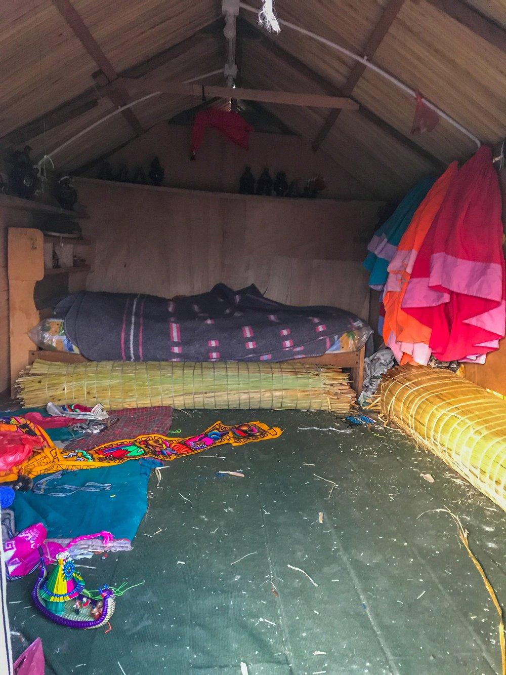 Inside an Uros home