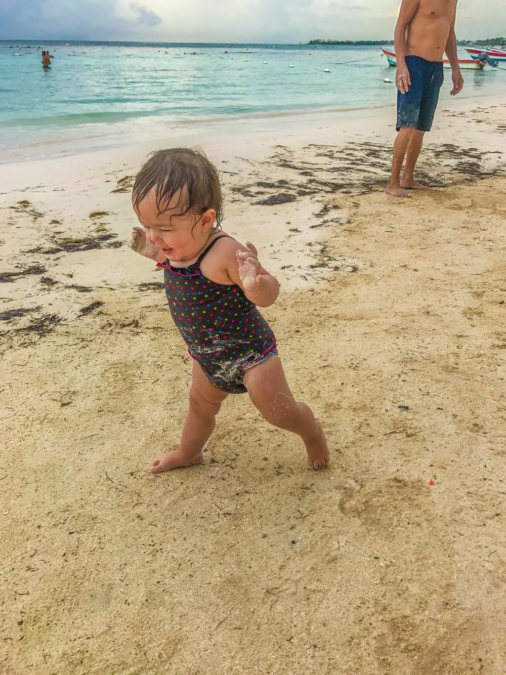 My niece enjoying Akumal Beach