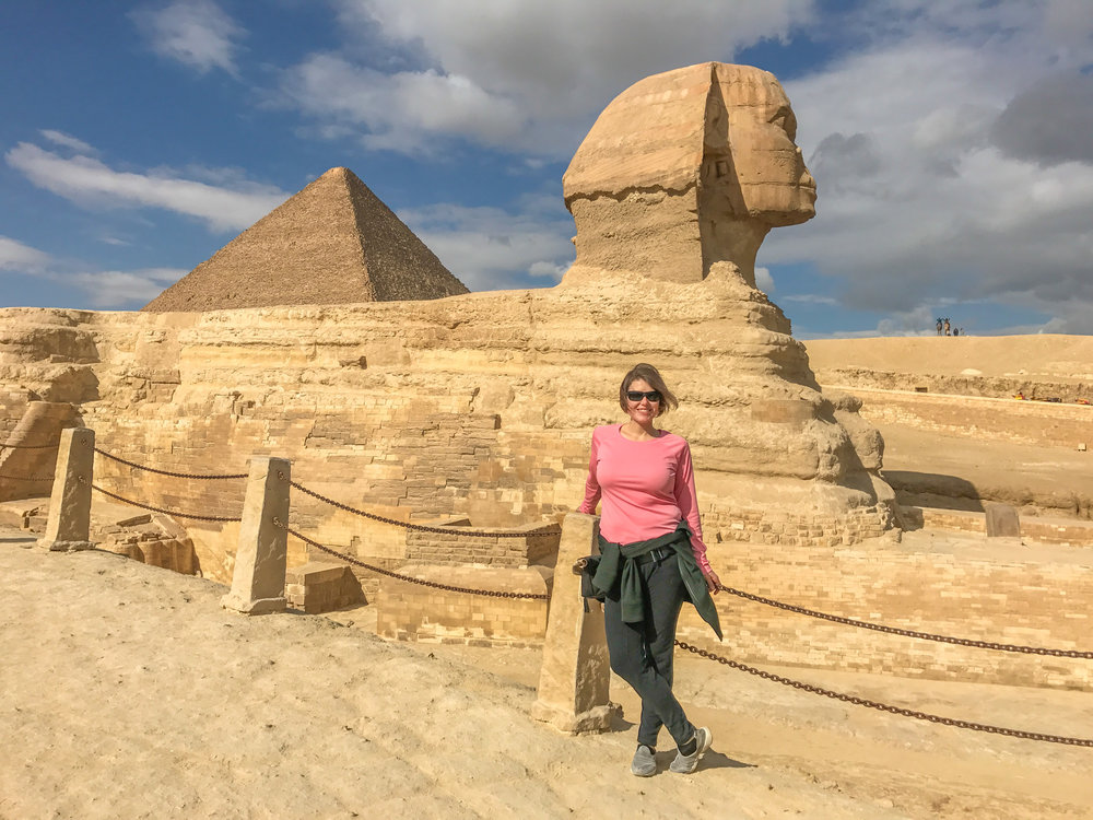 Sphinx & Pyramids, visible from Cairo!