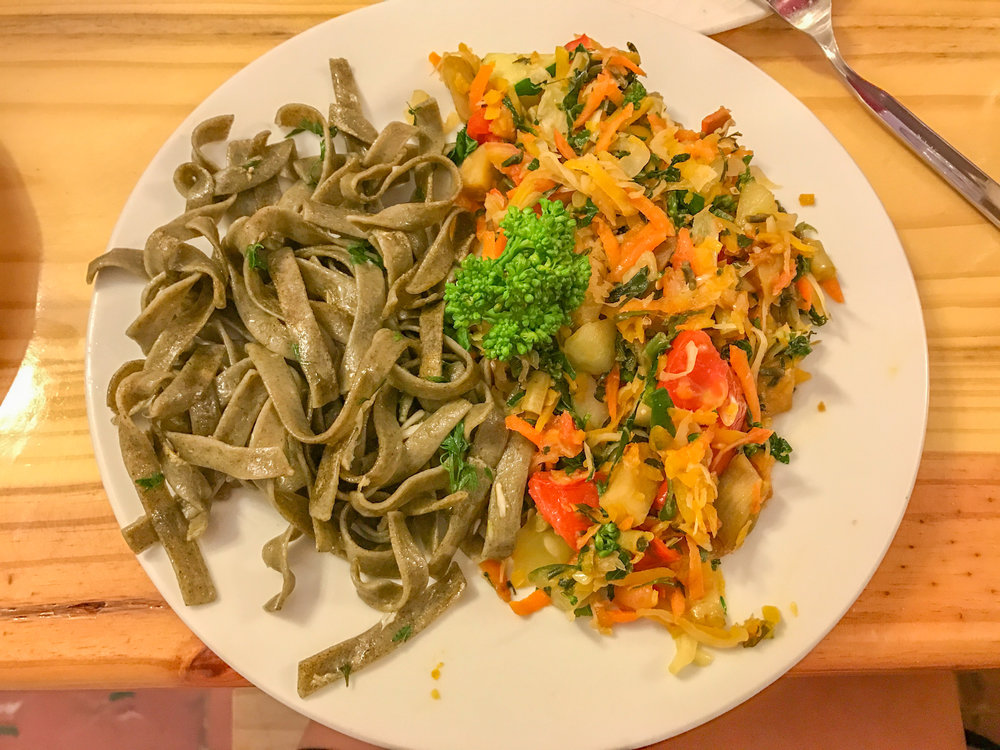 This is Cuban, just not traditional. These moringa noodles were served up at a restaurant in Vinales but aren't typical Cuban either.