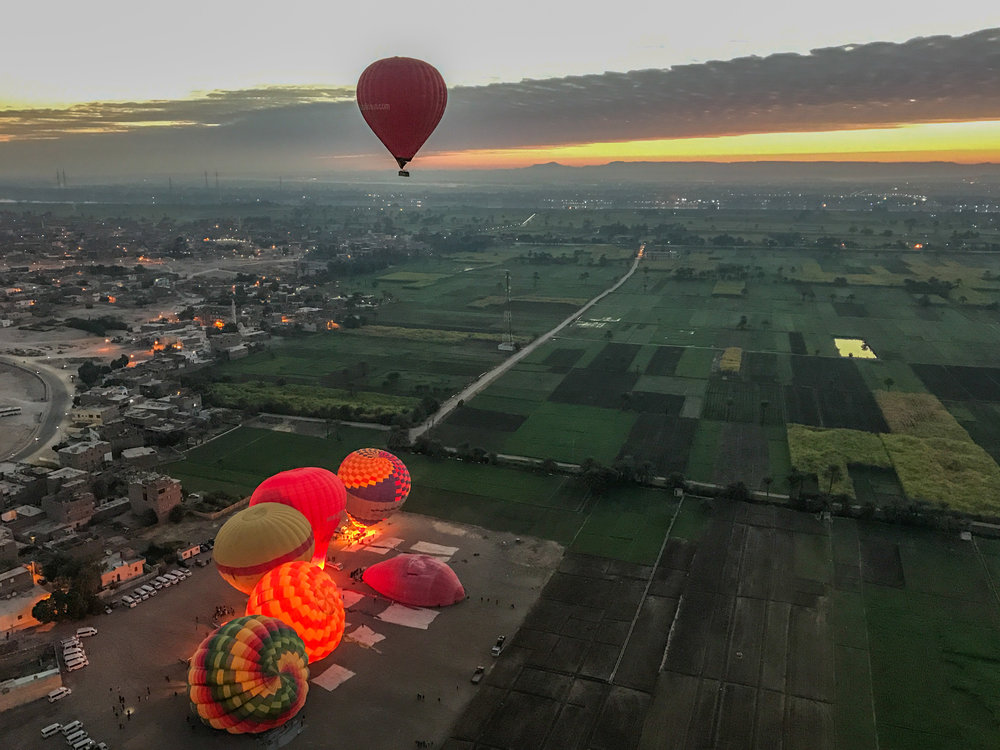 Luxor, Egypt balloon ride