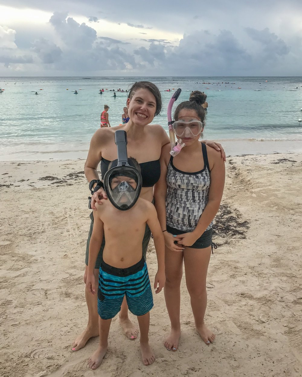 Snorkeling with my niece & nephew in Mexico