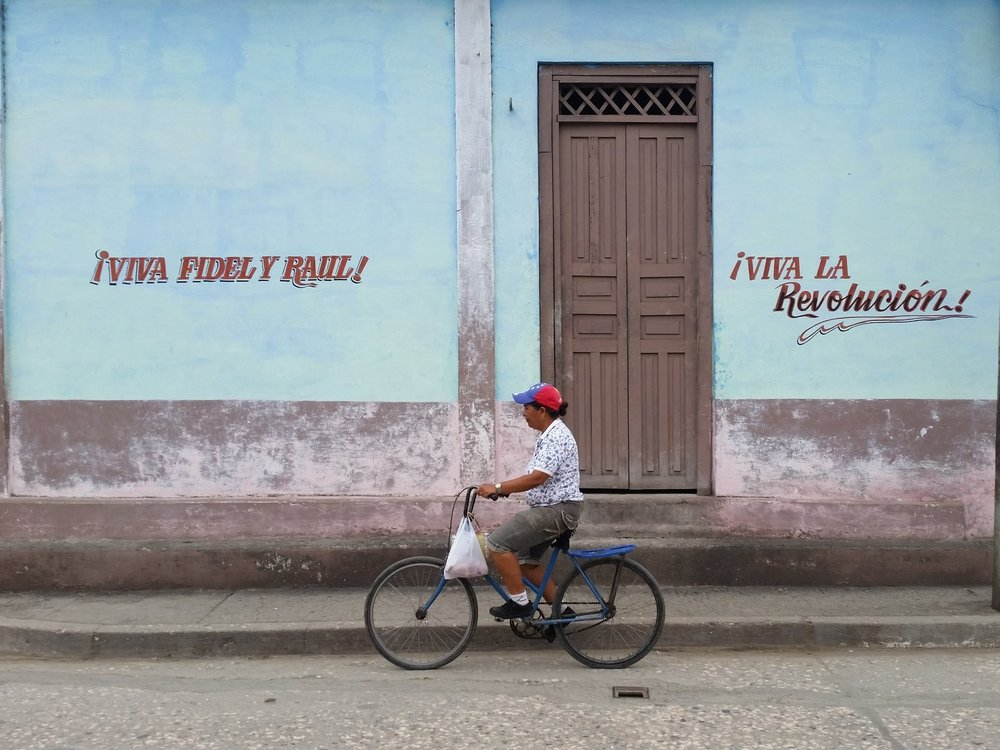 A bike commuter in Baracoa, Guantanamo