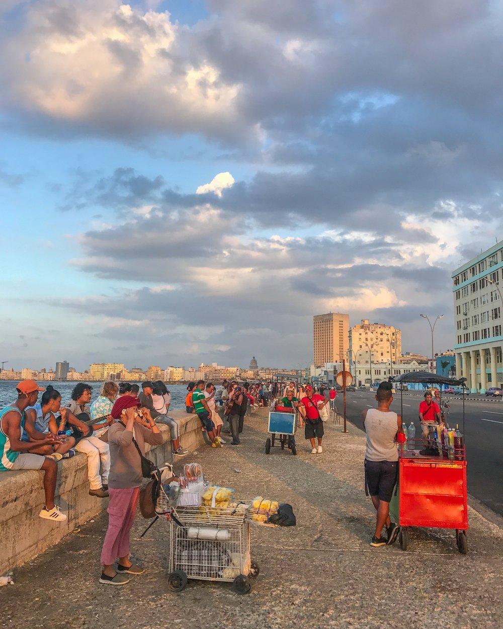 Havana's busy Malecon