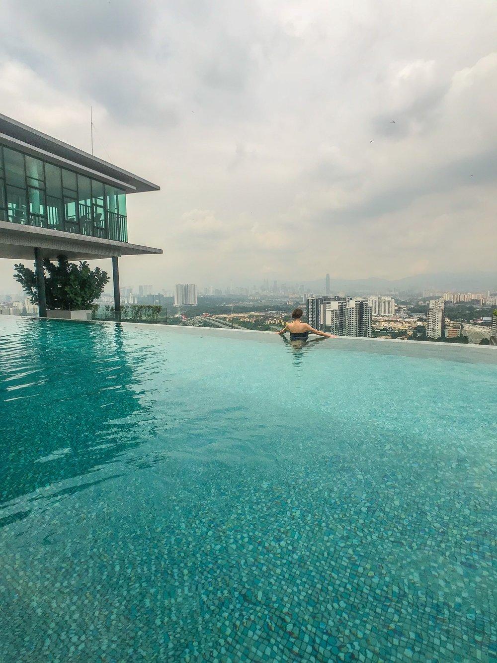 An infinity pool in Kuala Lumpur