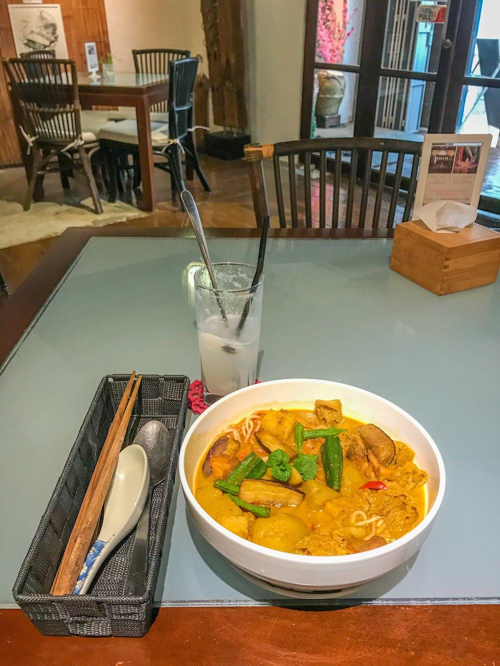 Spicy Nyonya noodles in Melaka