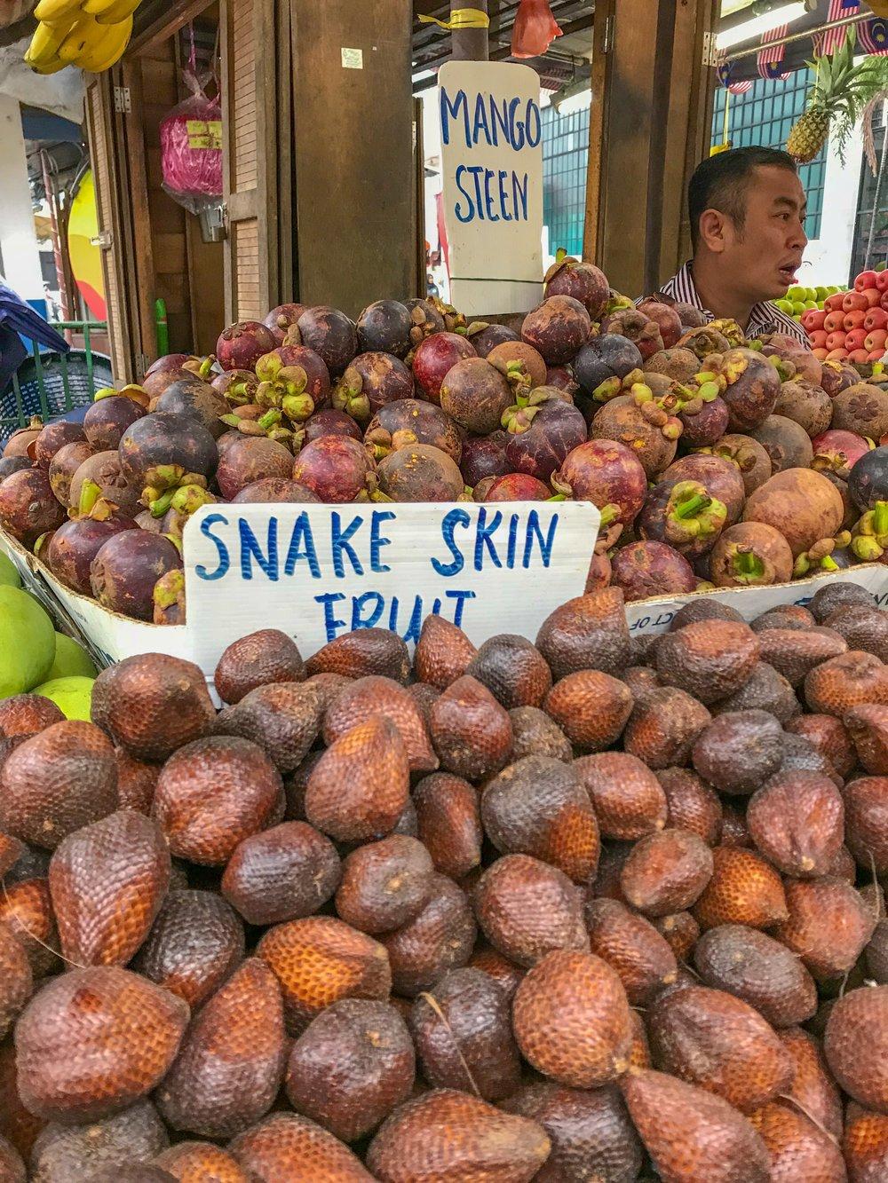 Snake fruit for sale in Kuala Lumpur