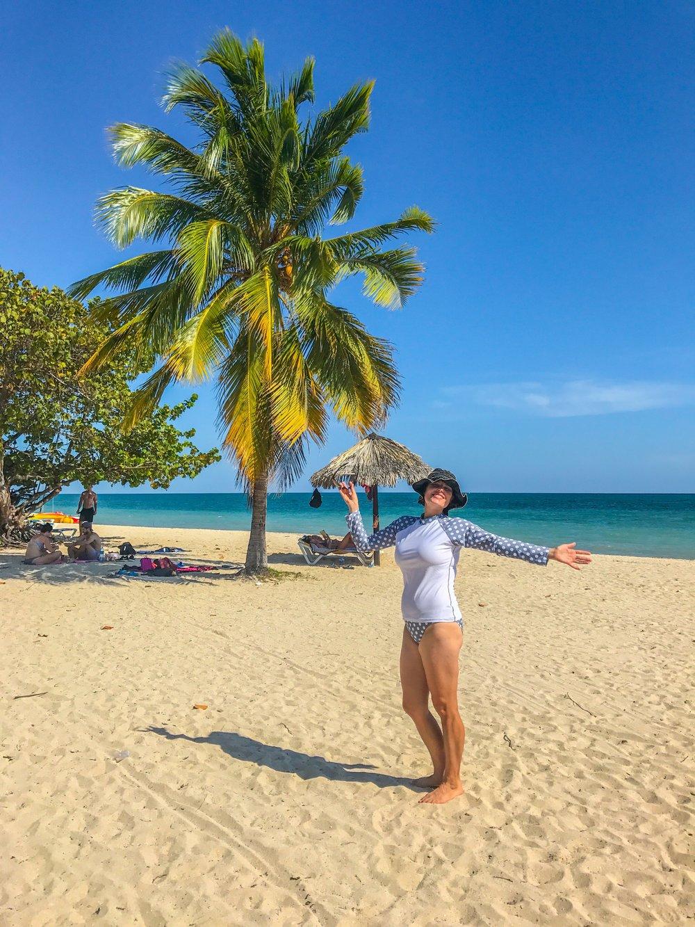 Me at the beach in Trinidad, Cuba
