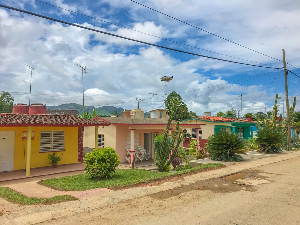 Typical casas particulares in Vinales