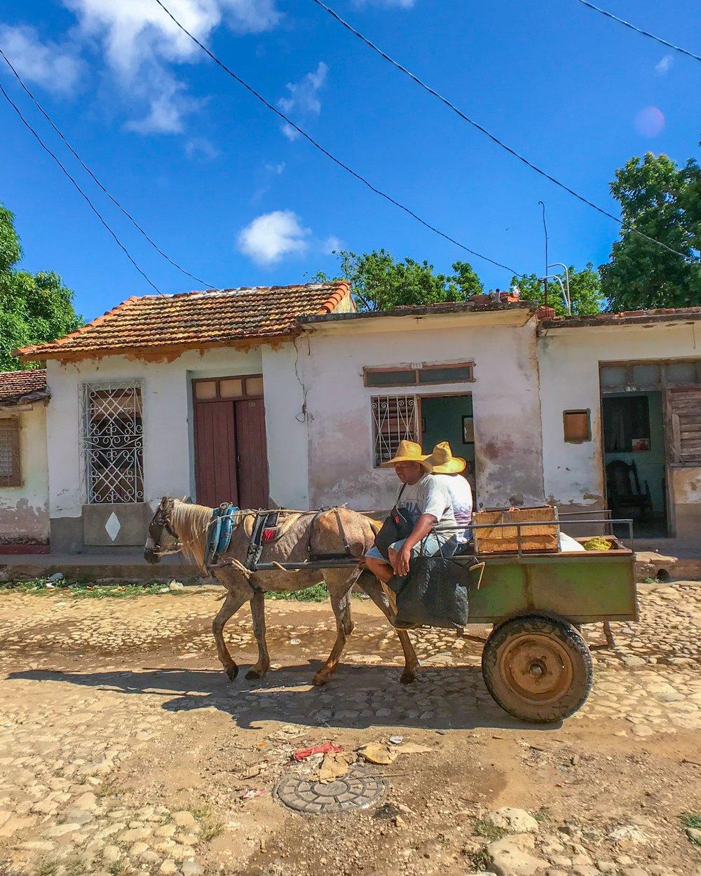 Typical street scene in Trinidad, Cuba