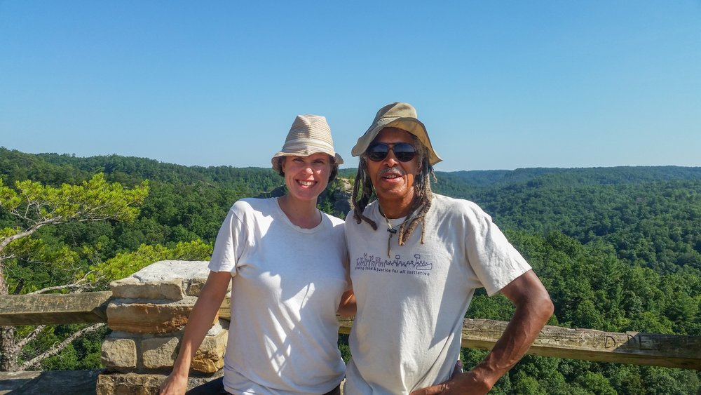 My friend, Jim, taking me for a hike through Daniel Boone National Forest
