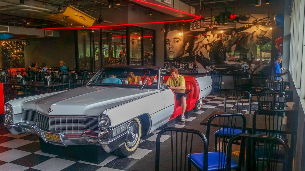 One of Elvis Presley's many cars at Graceland