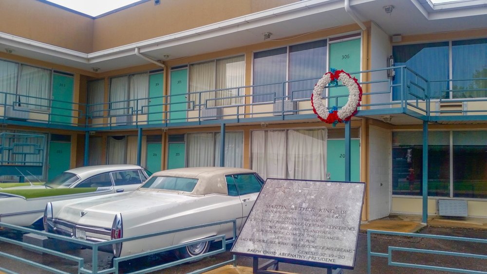 The National Civil Rights museum preserves the atmosphere of when MLK was killed