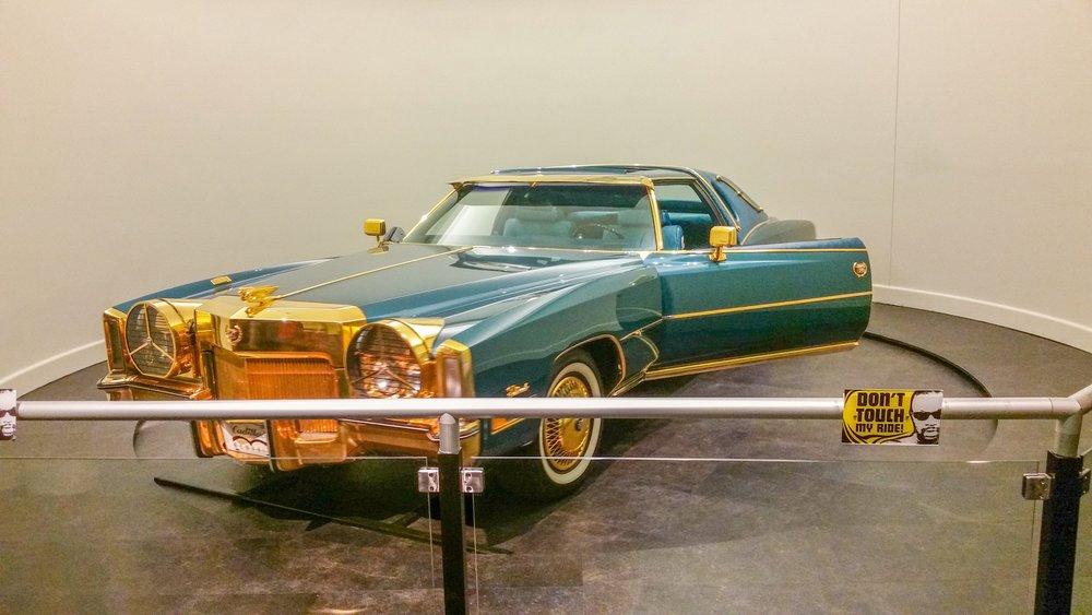Isaac Hayes' gold-plated Cadillac at Stax
