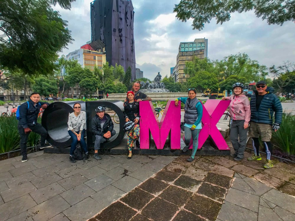 Bike tour of Mexico City
