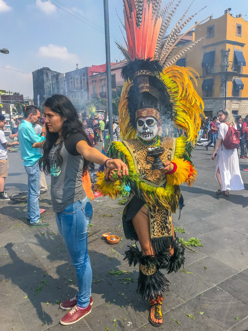 Cleansing ceremony in Mexico City