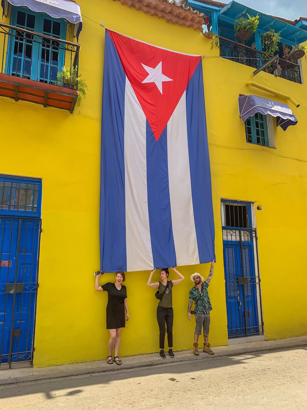 One of Cuba's many flags