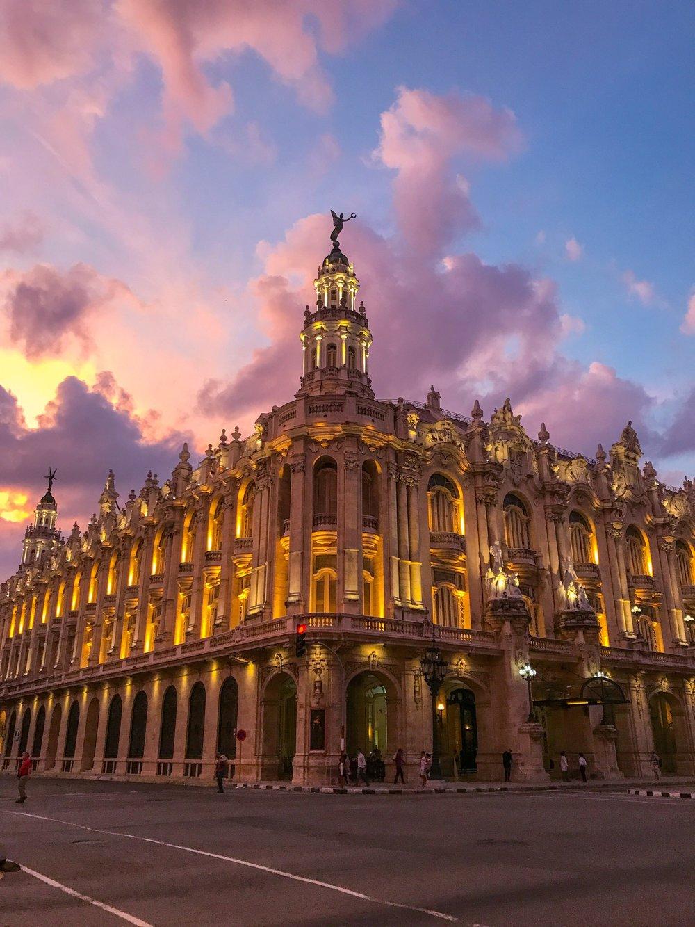 Sunset in Old Havana