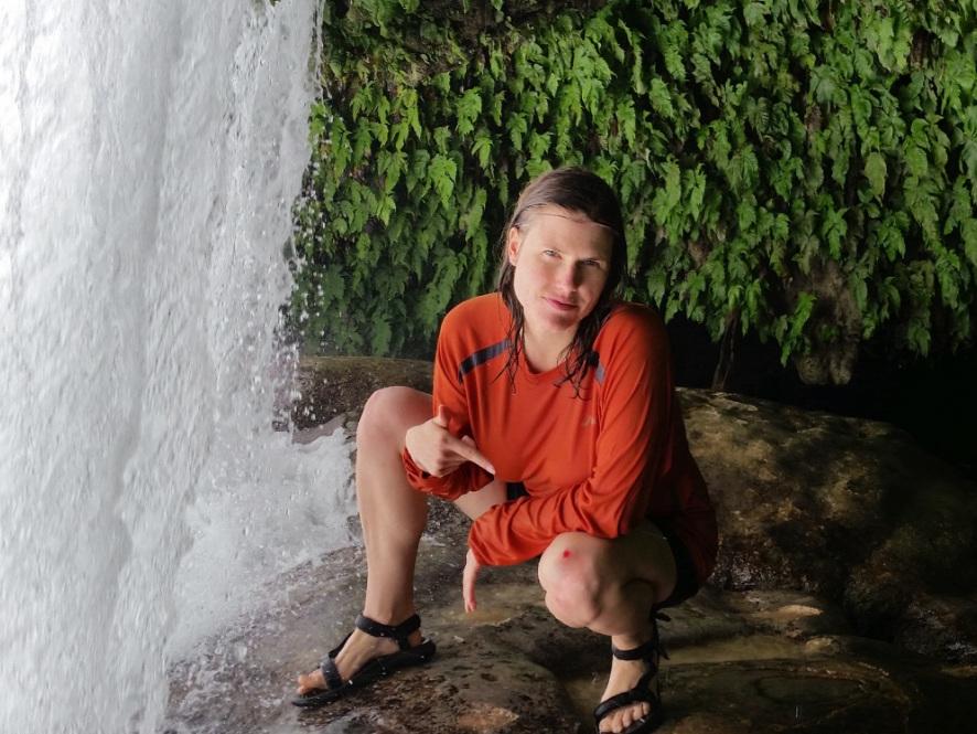 Skinned-knee but diarrhea-free, waterfall jumping in San Luis Potosi