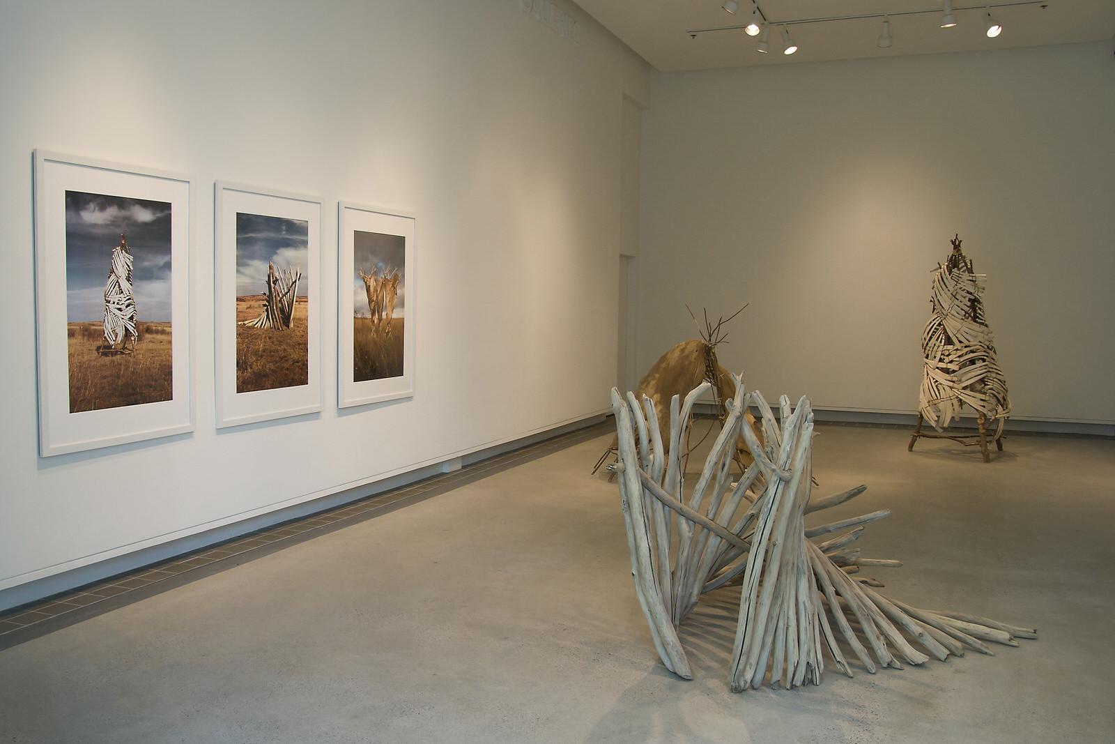 three photos; Vertical Chamber, Passage, Whirlwind,  sculpture; Passage, Lunar Chamber,  Vertical Chamber