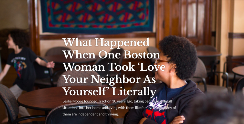 MULTIMEDIA: What Happened When One Boston Woman Took 'Love Your Neighbor as Yourself' Literally