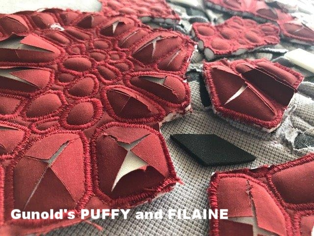 Materials: Gunold's PUFFY foam and FILAINE thread