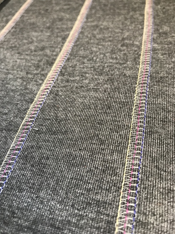 Effect Seams Using Gunold's Reflective CRY Thread. Seam Samples: Reutlingen University