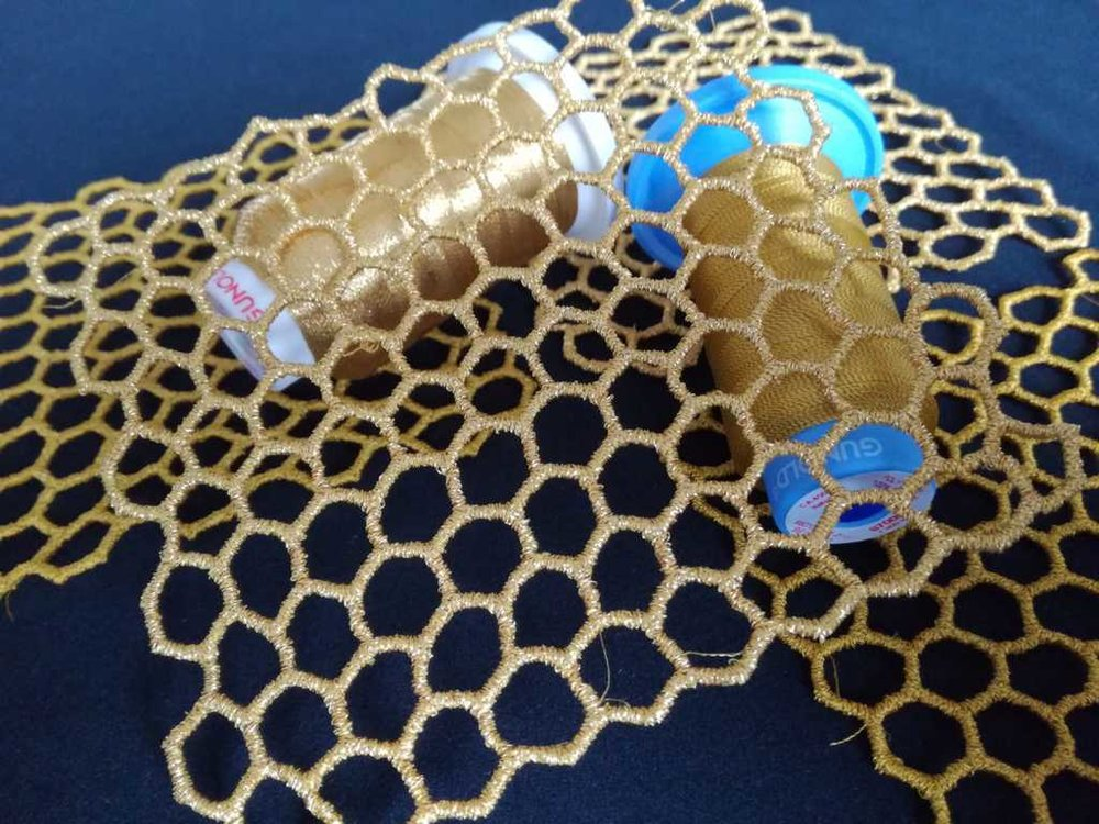 Embroidered Honeycomb Structures - Design by GS UK