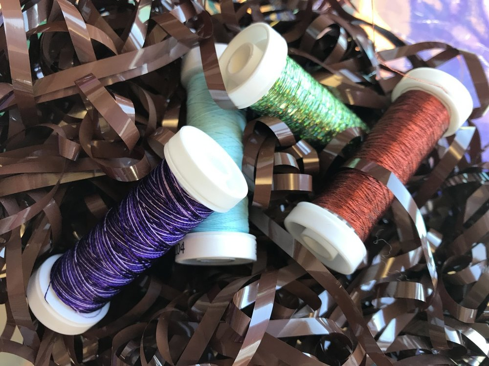 Creative Play with thread colours and structures