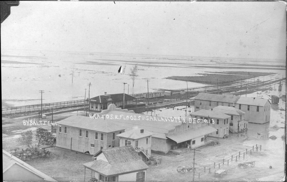 Brazos River Flood, Sugar Land Texas Dec 10 1913