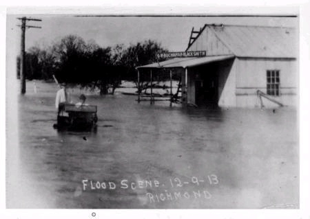 Flood Scene Richmond Dec 9 1913